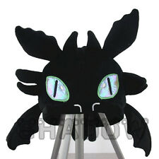 How to Train Your Dragon Toothless Black Plush Hat Character For Anywhere