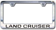 NEW Toyota Land Cruiser Chrome License Frame Engraved Block Letters (Set of 2)