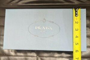 Prada Empty Gift Storage Shoe Box Light Blue w/ Tissue Paper  Dimensions in Pics