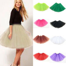 Womens Girls Princess Ballet Tulle Tutu Skirt Wedding Prom Mini Dress Pettiskirt