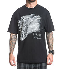 Sullen Clothing Mens Head Eater Wolf Black T Shirt Artwork by Elvin Yong