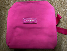 Lancome Hot Pink Makeup Bag Woth Bow New