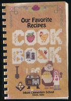 Vintage 1996 Our Favorite Recipes Inkom Elementary School Cookbook Inkom Idaho