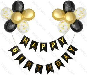 Coloured Happy Birthday Banner Balloons 1st 2nd 16th 18th 21st Party Decorations
