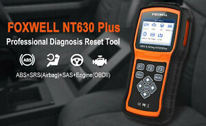 Foxwell NT630 Plus ABS Airbag SRS Reset OBD2 Diagnostic Scanner Tools Reader