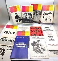 1973 LOT OF 15 PLAYBILLS - Grease, Cyrano, Gigi, Dudlye Moore, Lansbury and more