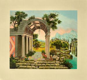 MARCO BONECHI Paesaggio serigrafia materica 80x70 firmata e numerata GRAFISER