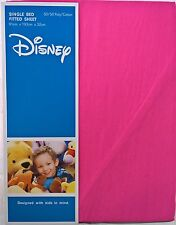 ~ Disney - SINGLE BED PINK FITTED SHEET