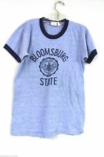 Champion Label VTG 1970s Boys T Shirt Ringer 14-16 Bloomsburg State Cotton Blend