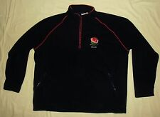 England Rugby / Cotton Traders - MENS 1/4-zip fleece navy Top / Jumper. Size: XL