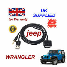 JEEP WRANGLER MULTIMEDIA ADAPTER iPhone 3GS 4 4S iPod USB 3.5mm Aux Cable black