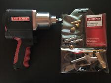 "BUNDLE-Craftsman 1/2"" Drive Tire Air Impact Wrench w/11 PC Air Compressor kit"