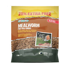 Gardman Dried Mealworm for Wild Birds 1.5kg Re-Sealable Pour Pack Free Delivery