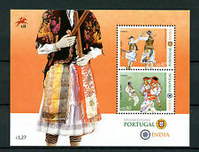 Portugal 2017 MNH JIS Joint Issue India Dance 2v M/S Folklore Cultures Stamps