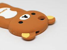CUTE 3D BEAR SOFT RUBBER SILICONE PHONE CASE COVER FOR APPLE IPHONE 4, 4S