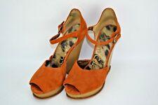Sam Edelman Javi Recortado de ante Punta Abierta Tacones Mujer Talla 7M Zapatos