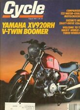 1981 August Cycle Motorcycle Magazine Back-Issue