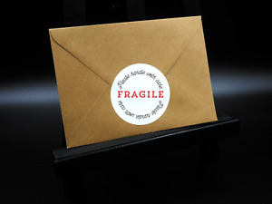 Fragile Stickers - Please Handle With Care - Round Labels