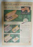 Parker Pens and Pencils Ad: Parker Pen & Pencils from 1950 Size: 11 x 15 inches