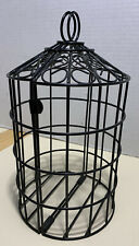 """Decorative Wire Bird Cage With Hook black  11"""" Tall"""