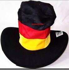 ♥FANARTIKEL DEUTSCHLAND  2 X FUßBALL FAN FILZ-COWBOYHUT// DEUTSCHLAND♥NEU♥