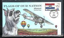 2009 #4301 44c Missouri Flag - Standard Schnauzer Collins First Day Cancel