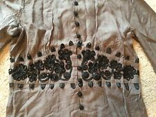 Coco & Tashi Embroidered Buttoned Shirt  Blouse NWT sz S