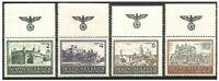 4 BIG NAZI OCCUPIED POLAND STAMPS w SWASTIKA PANE/NAT LANDMARKS! 2 CORNER BLOCKS