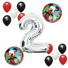 2nd Birthday Party Supplies Mickey Mouse Boy Second Number Foil balloons Bouquet