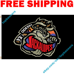 Deluxe Odessa Jackalopes Flag Banner North American Hockey League 2021 3x5 Ft