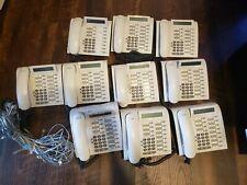 Lot of 10 SIEMENS OPTIPOINT 500 Advance Phone Set White w/ Handset & Accessories