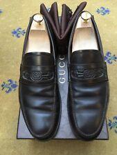 Scarpe da uomo Gucci marrone in pelle in rilievo GUCCI Mocassini UK 9.5 US 10.5 EU 43.5