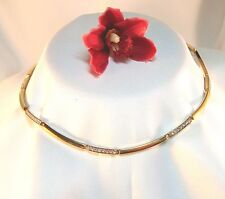 Hinreißende Pierre Lang Collierkette Collier mit Stein vergoldet Kette / ak 365