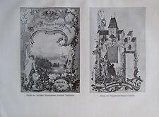 Adresse Ingenieure - Baugewerke-Innung - Originaldruck aus 1895 2 Bilder
