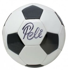 Pele Signed Soccer Ball (PSA Hologram, Pele Hologram, & Fanatics Hologram)