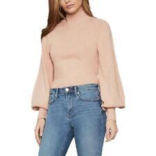 BCBGMAXAZRIA Womens Merino Wool Blend Ribbed Trim Crop Sweater Top BHFO 8438