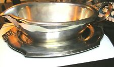 Silver Gravy Boat & Serving Tray - International Silver Co. Silver-Plated