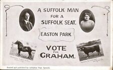 Easton Park Election Card. Graham by A.Tear, Ipswich. Champion Stallion & Bull.