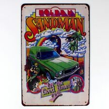 Metal Tin Sign old car sandman garage  Bar Pub Home Vintage Retro