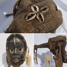 DECORATED Dan Gioh Headdress Mask Figure Sculpture Statue Tribal African Art