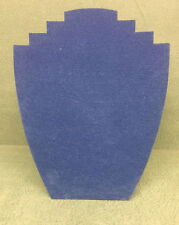 Set of 5 Jewellery Display Card Busts [B] Summer Blue Suedette