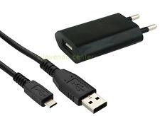 Für Samsung S2 S3 S4 S5 Ladegerät + Ladekabel Datenkabel Netzteil USB schwarz