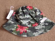 BNWT NEXT Floral Khaki Camouflage Fisherman Hat Sun Hat 7-10 Years