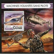 GUINEA 2016 PILOTLESS AIRCRAFT DRONES SOUVENIR SHEET MINT NH