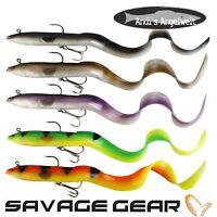 Savage Gear Real Eel 40 cm 147g + 9g - verschiedene Farben - Hechtköder