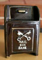 Vintage Mailbox Coin Bank Ceramic Postal Service Mail box