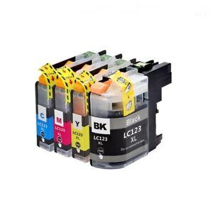 Ink Cartridges fit Brother MFC-J4610DW, MFC-J4710DW, MFC-J4410, DCP-J552DW LC123