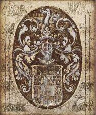 Russel Brennan: Coat Of Arms i Imagen Terminada 50x60 Mural Escudo Antiguo Deco