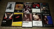 CLASSIC ROCK Cassette Tapes Lot Of 10 ZZ TOP MEAT LOAF BOB DYLAN ERIC CLAPTON ++