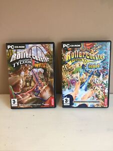 PC / ROLLERCOASTER TYCOON 3 SOAKED  + WILD. ,Pc Cd  Add-On Expansion Packs VGC